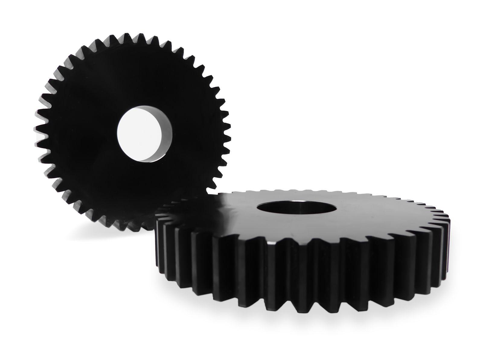 Le ruote dentate possono essere fornite in qualsiasi materiale con relativo certificato di origine