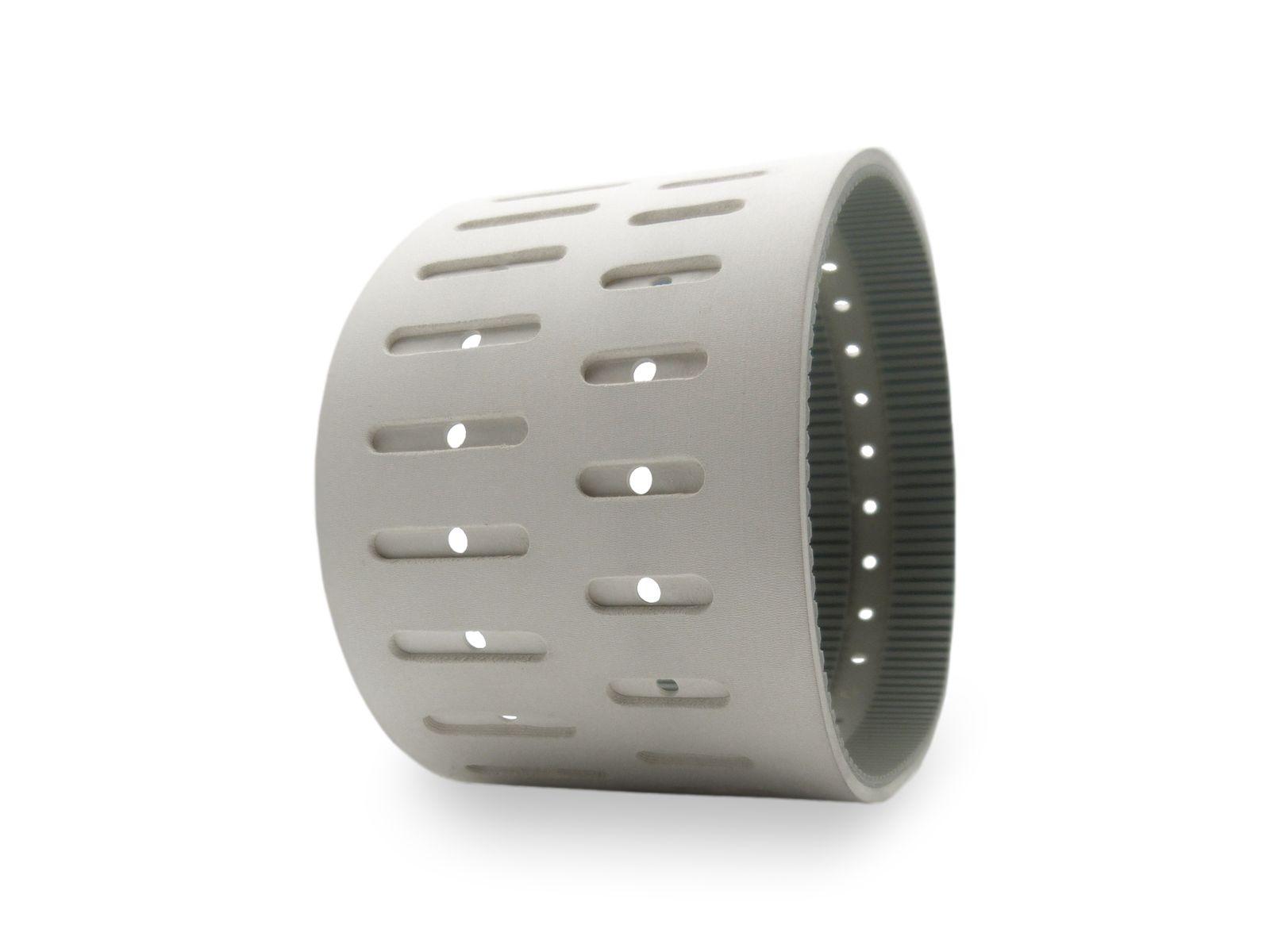 Cinghia con rivestimento gomma FDA 60 sh. con lavorazioni per vacuum