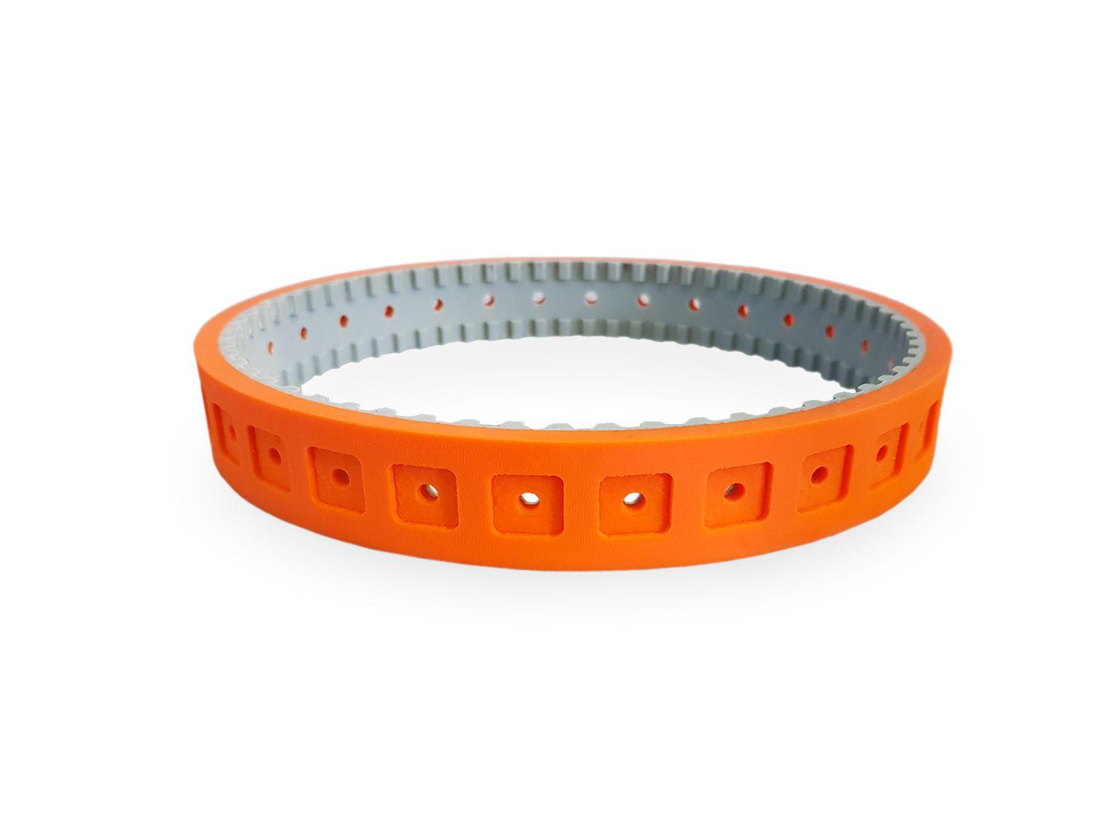 La gomma siliconica arancione 35 shore è ideale dove è richiesto un grip elevato