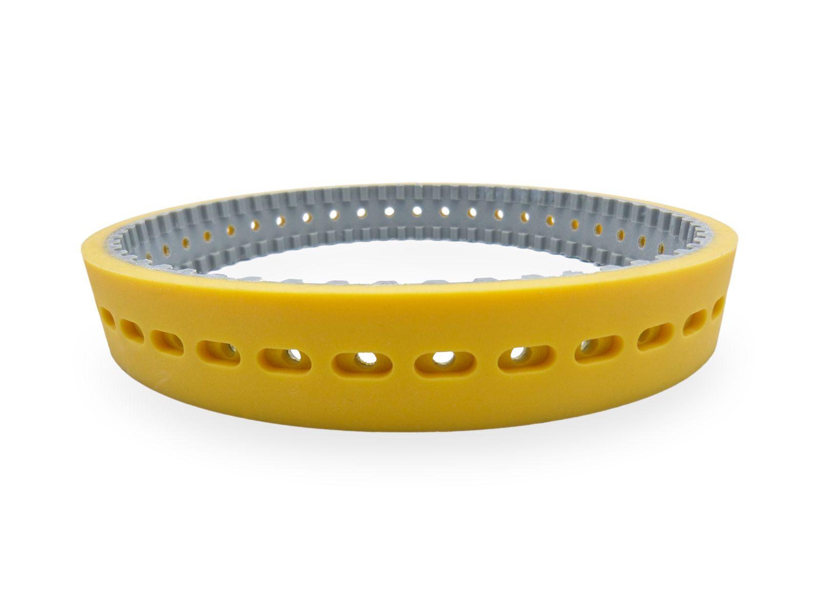 Con cinghie ad asole strette è possibile trainare su tubi di piccolo diametro