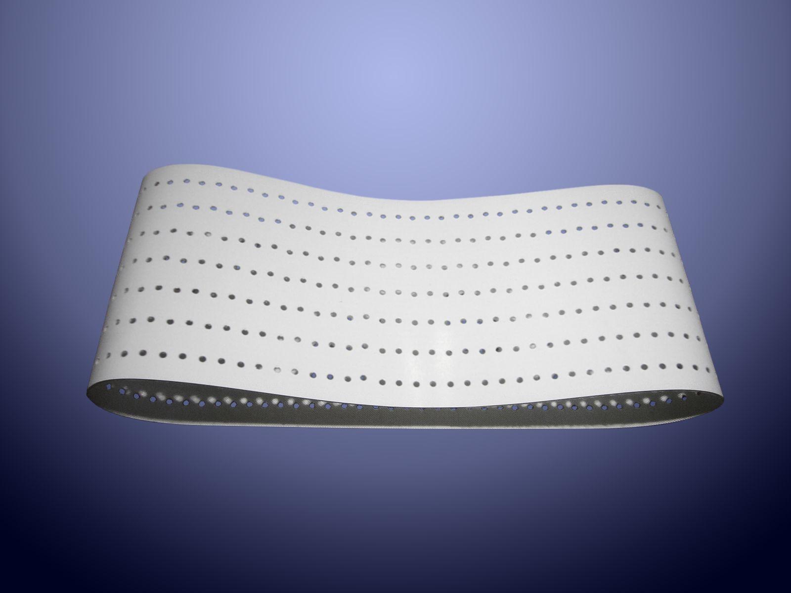Nastro forato per sistema di aspirazione utilizzato nel settore della carta