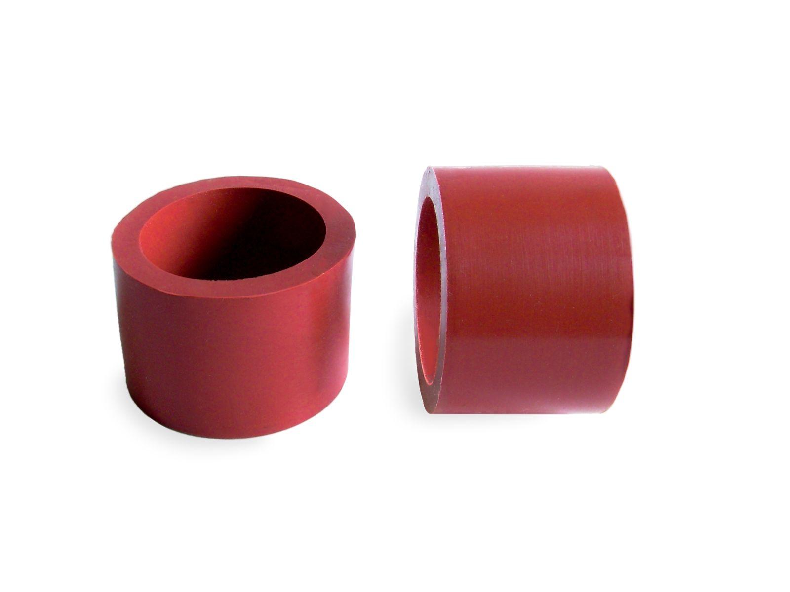 I particolari in gomma siliconica sono disponibili in diverse colorazioni con durezze che variano dai 30 ai 65 shore