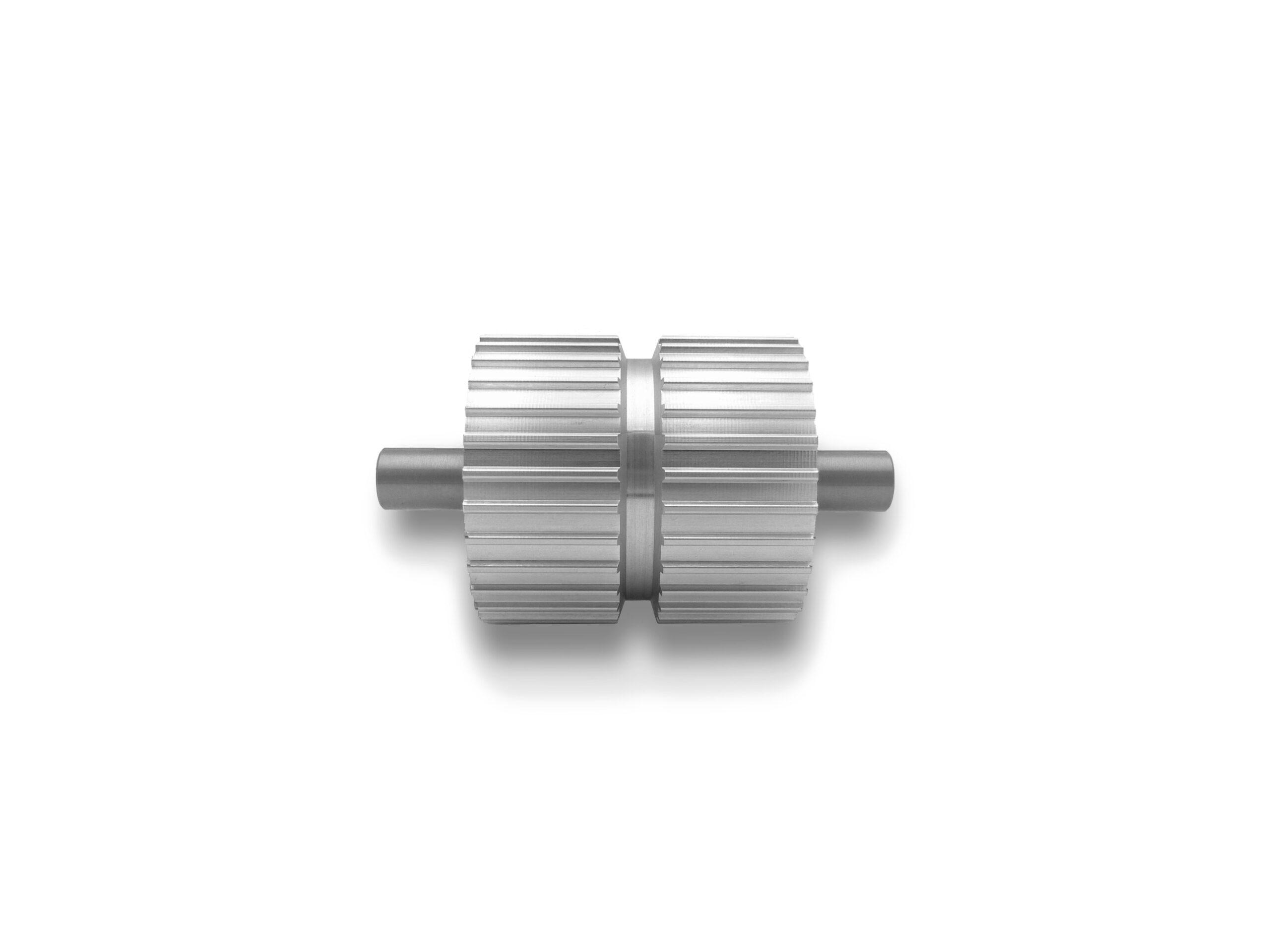 Puleggia in alluminio con lavorazione centrale per cinghia autoguidata ATK