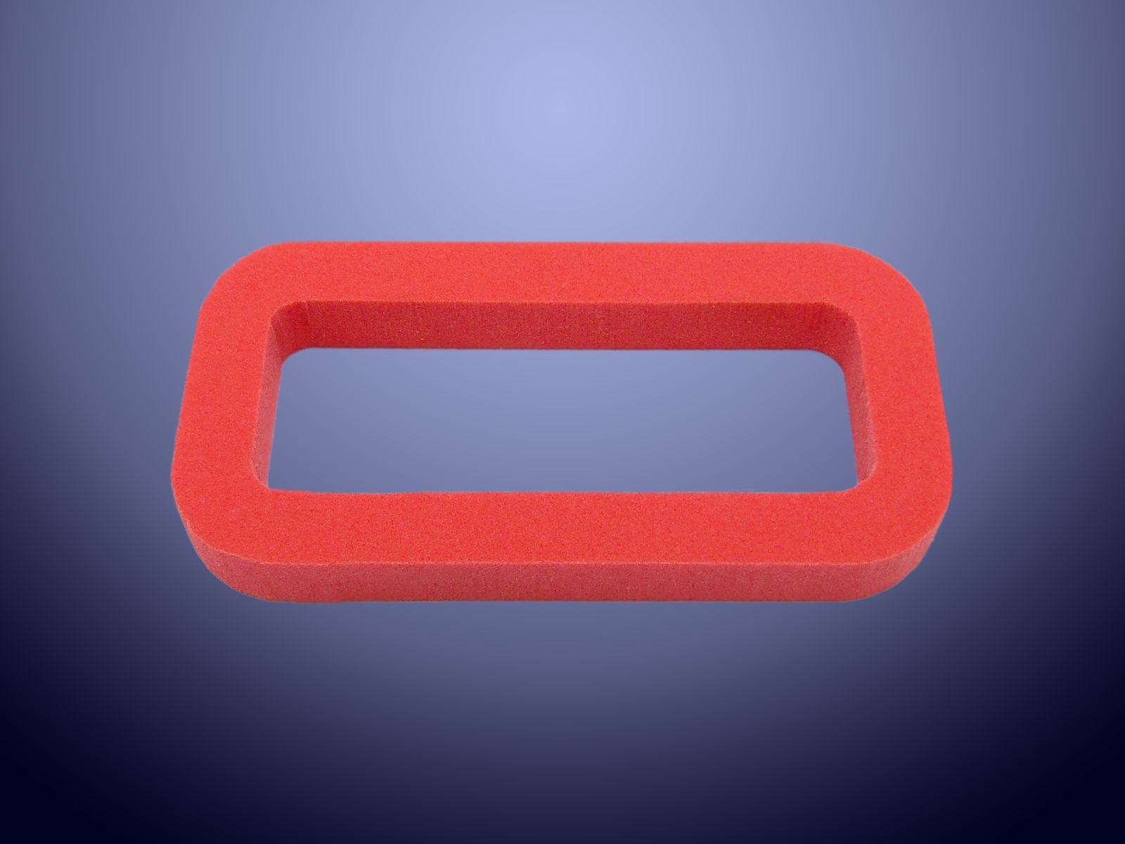 Guarnizione in poliuretano espanso Sylomer rosso con densità 510 Kg per metro cubo