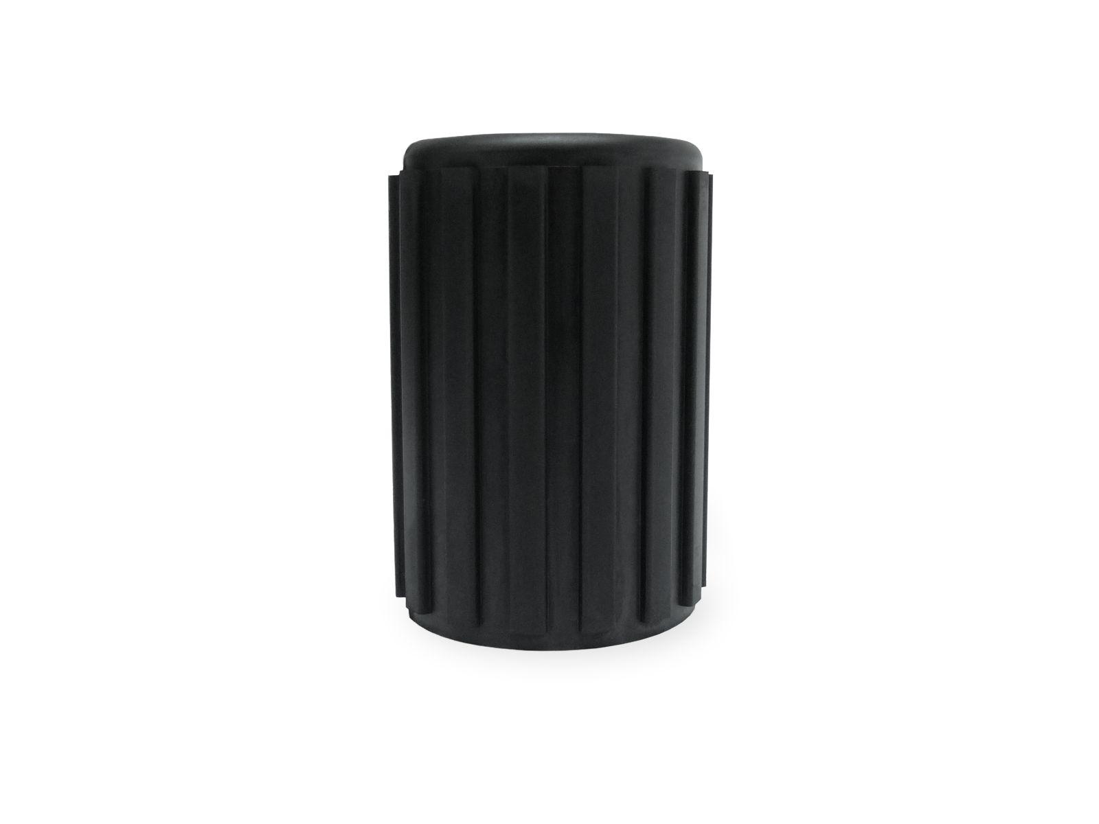 Tappo in gomma nera EPDM per la chiusura delle estremità di tubi nel settore delle attrezzature per palestra