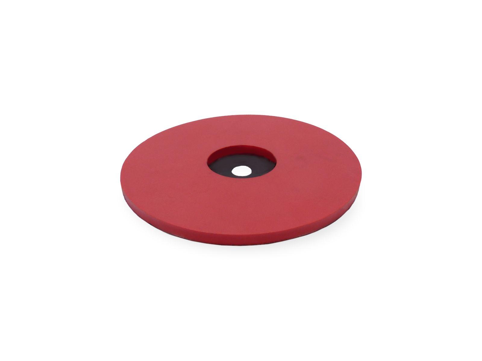 Disco in acciaio inox con rivestimento in gomma naturale Linatex utilizzato nel settore dell'imbottigliamento