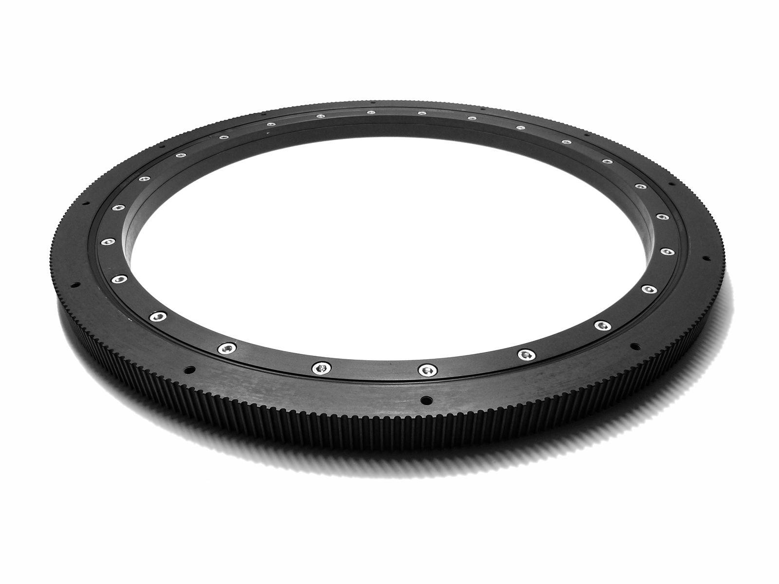 Cuscinetto in alluminio con diametro interno 650 mm ed anello esterno dentato per cinghia HTD 8M con anodizzazione dura